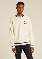 Thumbnail for your product : Paul Smith Men's White 'Happy' Cotton Sweatshirt