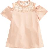 Monteau Ruffle Cold-Shoulder Shirt, Big Girls (7-16)