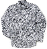 Murano Big & Tall Long-Sleeve Liquid Luxury Leaves Pattern Sportshirt