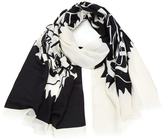 Kenzo Modal Tiger Chest Icon Scarf White/Black