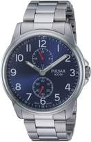 Pulsar Men's Quartz Stainless Steel Casual Watch, Color:Silver-Toned (Model: P3A001X)
