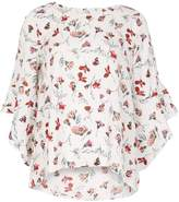 Izabel London Floral Print Flared Sleeve Blouse