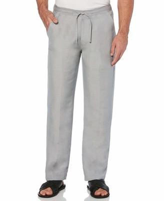 Cubavera Big & Tall Drawstring Linen Pant with Two Back Pockets