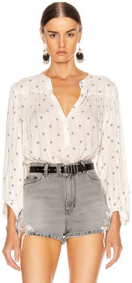 Icons Objects Of Devotion Objects of Devotion The Modern Poet Top in White & Navy Indian Dot | FWRD