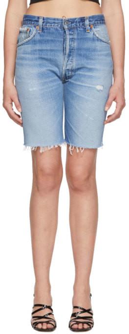 RE/DONE Indigo Levis Edition Denim The Long Shorts