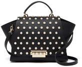 Zac Posen Eartha Iconic Soft Top Handle Imitation Pearl Embellished Leather Satchel