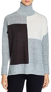 Alison Andrews Color-Blocked Turtleneck Sweater
