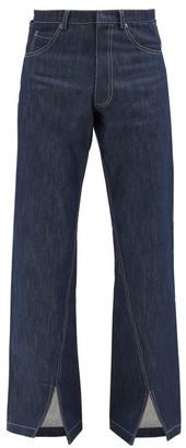 Bianca Saunders - Slit-cuff Straight-leg Jeans - Blue