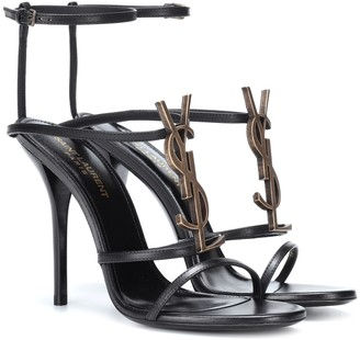 Saint Laurent Cassandra 110 leather sandals