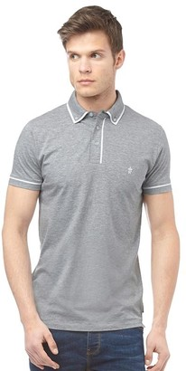 French Connection Mens Piping Polo Light Grey Melange