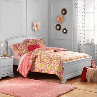 Better Homes & Gardens Kids Damask Reversible Comforter Set, Coral & Green, Full/Queen