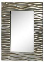 Lazy Susan Rectangle Transcend Decorative Wall Mirror Silver