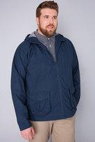 Yours Clothing BadRhino Blue Cotton Hooded Jacket