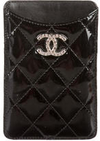 Chanel Quilted Patent Phone Case