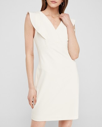 Express Ruffle Sleeve Sheath Dress