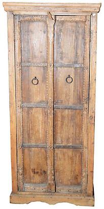 One Kings Lane Vintage Antique Indian Brass & Wood Dresser - FEA Home