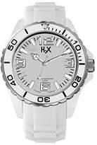Haurex H2X Women's SW382DW1 Reef Luminous Water Resistant White Soft Rubber Watch