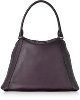 Akris M Aimee Blackberry Leather Satchel Bag
