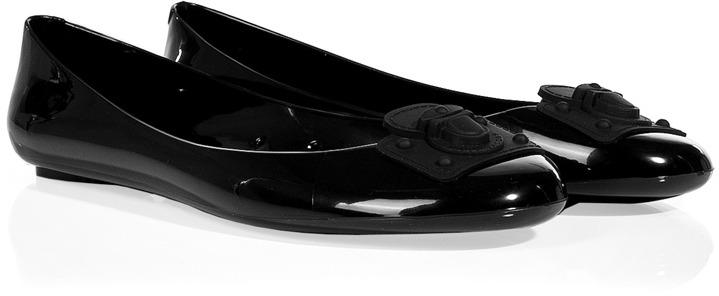 Marc Jacobs Black Rubber Ballerina Flats