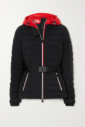 MONCLER GRENOBLE Bruche Hooded Belted Quilted Shell Down Jacket - Black