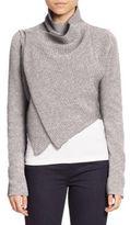 Elie Tahari Iliana Draped Cropped Sweater