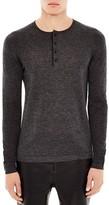 Sandro Heathered Henley Sweater