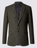 Marks and Spencer Single Breasted 2 Button Checked Jacket
