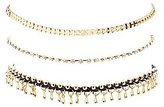 Charlotte Russe Embellished Chainlink Choker Necklaces - 3 Pack