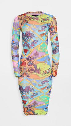 Versace Belts Print Dress