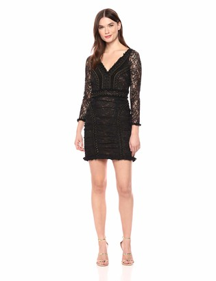 French Connection Women's Long Sleeve Lace Mini Dress