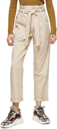 Topshop Billy Utility Paperbag Trousers
