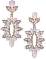 INC International Concepts I.n.c. Rose Gold-Tone Pave & Colored Stone Statement Earrings, Created for Macy's