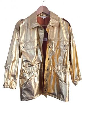 soeur Gold Cotton Trench coats