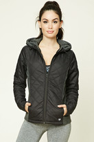 Forever 21 FOREVER 21+ Active Hooded Quilted Jacket