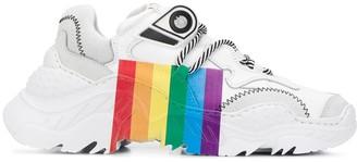 No.21 rainbow printed sneakers