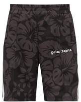 Palm Angels Hawaiian-print Jersey Track Shorts - Mens - Black