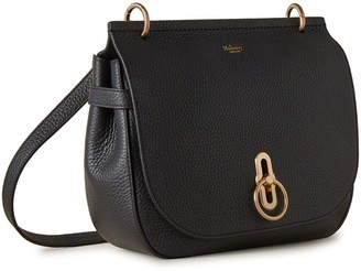 Mulberry Soft Amberley Satchel Black Heavy Grain
