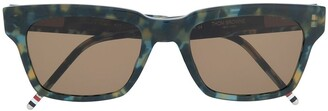 Thom Browne Eyewear Tortoise Sunglasses