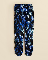 Aqua Girls' Abstract Print Pants - Sizes S-XL