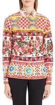 Dolce & Gabbana Women's Print Poplin Shirt