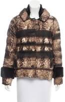 Prada Mink Fur-Trimmed Down Jacket