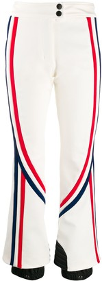 MONCLER GRENOBLE Stripe Patterned Flared Trousers
