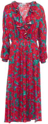 Magda Butrym Ancona Ruffled Silk-satin Midi Dress