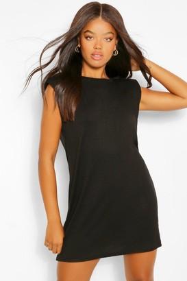 boohoo Shoulder Pad TShirt Dress