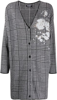 Boutique Moschino Houndstooth Cardi-Coat