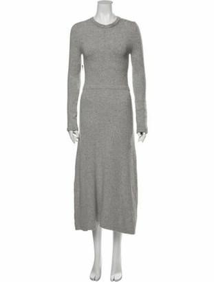 Cushnie Crew Neck Long Dress Grey