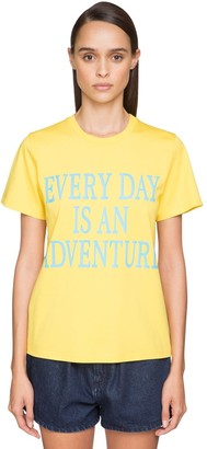 Alberta Ferretti 'every Day An Adventure' Cotton T-shirt