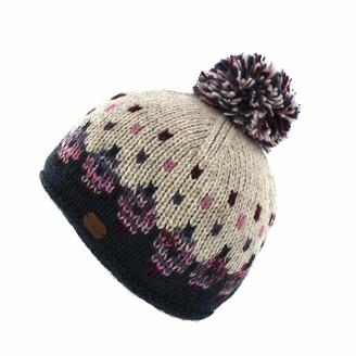 Kusan 100% Wool Multi-Coloured Bobble Hat (Navy (2001))