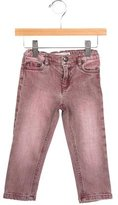 Bonpoint Girls' Distressed Straight-Leg Jeans