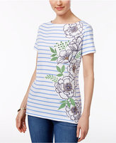 Karen Scott Striped Embellished Top, Only at Macy's